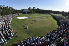 Danny Willett of England on No. 18 during the final round at Augusta National Golf Club on Sunday April 10, 2016.