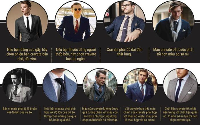 9 quy tắc dành cho cravate.