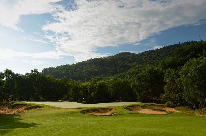 "Hole 7, par-4. September 24, 2012. Laguna Lang Co Golf Club, Cu Du Village, Thua Thien, Hue Province, Vietnam. Mandatory credit: Richard Castka/Sportpixgolf.com **Publishers please note. PR images received from Laguna Lang Co Golf Club MUST carry the above photo credit and can ONLY be used in the promotion of Laguna Lang Co Golf Club. They cannot be used as ""stock"" or for any other purpose. Failure to observe the above conditions will result in an invoice having to be paid**"