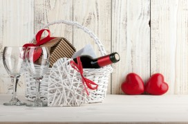 Romantic still life for Valentines day celebration