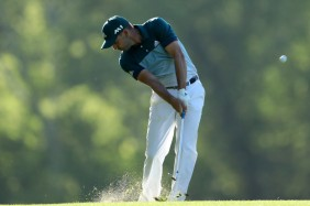 AUGUSTA, GA - APRIL 09:  Sergio Garcia of Spain watches his shot on the 14th hole during the final round of the 2017 Masters Tournament at Augusta National Golf Club on April 9, 2017 in Augusta, Georgia.  (Photo by David Cannon/Getty Images) ORG XMIT: 692254095 ORIG FILE ID: 666609932