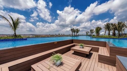 Khu vực mini pool bar sang chảnh đậm chất nhiệt đới