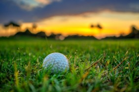 Golf Ball at Golf Course North Palm Beach Florida