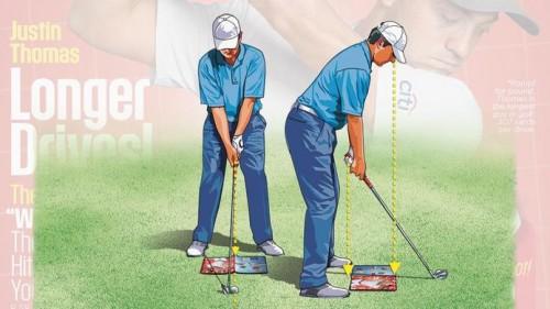 Dùng quyển tạp chí golf để định hình tư thế của bạn
