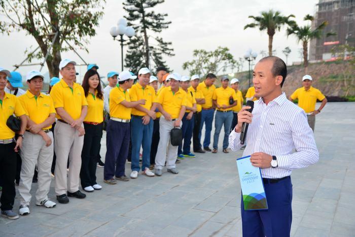 Ông Nhữ Văn Hoan- PTGĐ TT Công ty CP quản lý sân golf Biscom phát biểu tại Lễ khai mạc