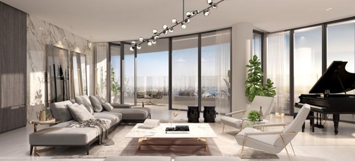 Phòng khách luôn ngập tràn ánh sáng với view toàn cảnh tuyệt đẹp