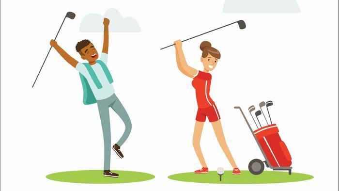 Kết quả hình ảnh cho chơi golf không bị kích động