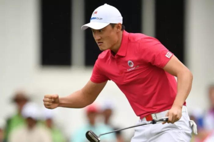 Li Haotong ghi cú chip birdie đem về trận hòa cho tuyển Châu Á