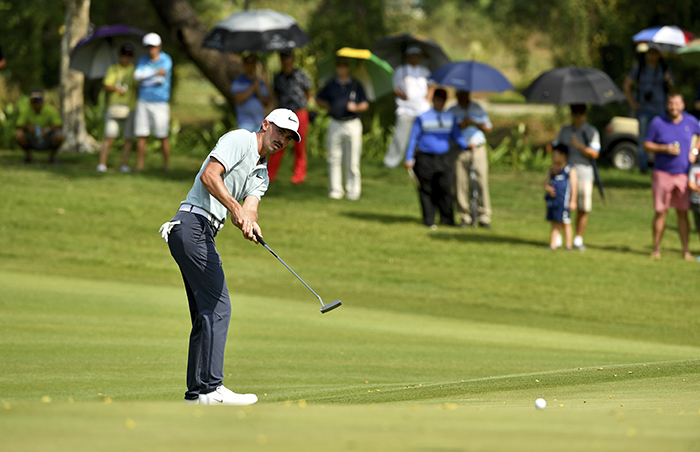 YANGON-MYANMAR- Paul Peterson of the USA pictured during round four - Sunday January 28, 2018, of the Leopalace21 Myanmar Open at the Pun Hlaing Golf Club, Yangon, Myanmar. The USD$ 750.000 Asian Tour event is co-sanctioned with the Japan Golf Tour - January 25-28, 2018. Picture by Paul Lakatos/Asian Tour.
