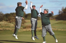 Golfers Take Part In The World Hickory Open Championships