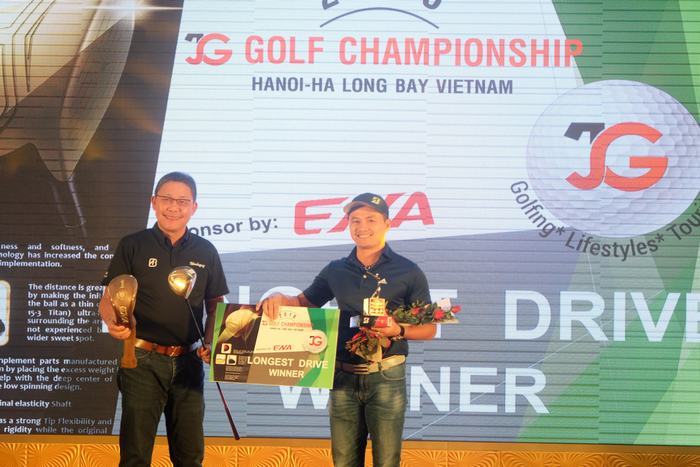 Golfer Thái Trung Hiếu giành giải Longest Drive