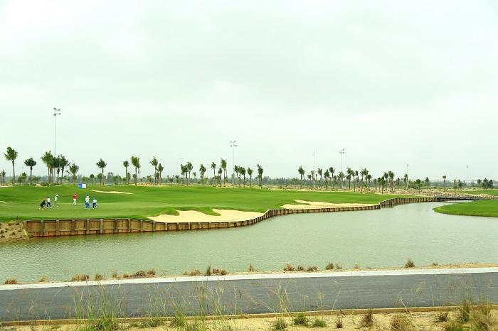 Bulkhead style golf course in BRG Danang Golf Resort