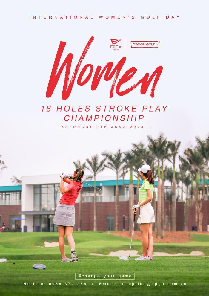 internation women golf poster-A4