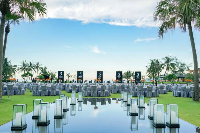 Angsana Lăng Cô's Central Lawn where the elegant gala dinner took place