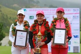 Tuyển golf Nữ Việt Nam ASIAD 2018 là Nguyễn Thảo My, Hanako Kawasaki và Đoàn Xuân Khuê Minh