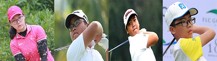 Từ trái qua phải: Đoàn Xuân Khuê Minh, Nguyễn Bảo Long, Nguyễn Đặng Minh và Nguyễn Quang Trí
