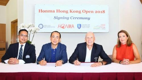 Honma Hongkong Open 2018 Signing Ceremony