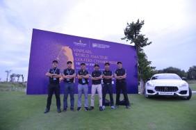Tổ trọng tài giải Vinpearl WAGC Vietnam 2018 (từ trái qua phải): ông Đinh Hồng Minh, Phùng Mạnh Lộc, Phan Ngọc Tâm, Trần Trọng Đăng Khoa, Nguyễn Hồng Nguyên và Phan Thanh Bình.
