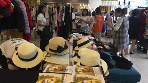 New and gently used items were sold at the event.