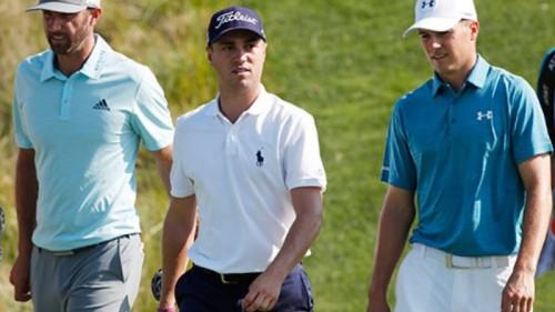 Từ trái qua phải: Dustin Johsnon, Justin Thomas và Jordan Spieth