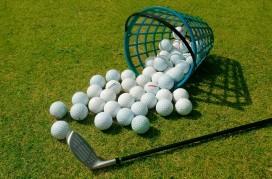 Basket of Driving Range Golf Balls