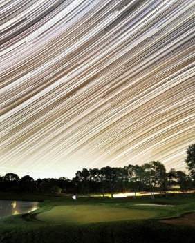 How Santa sees golf courses