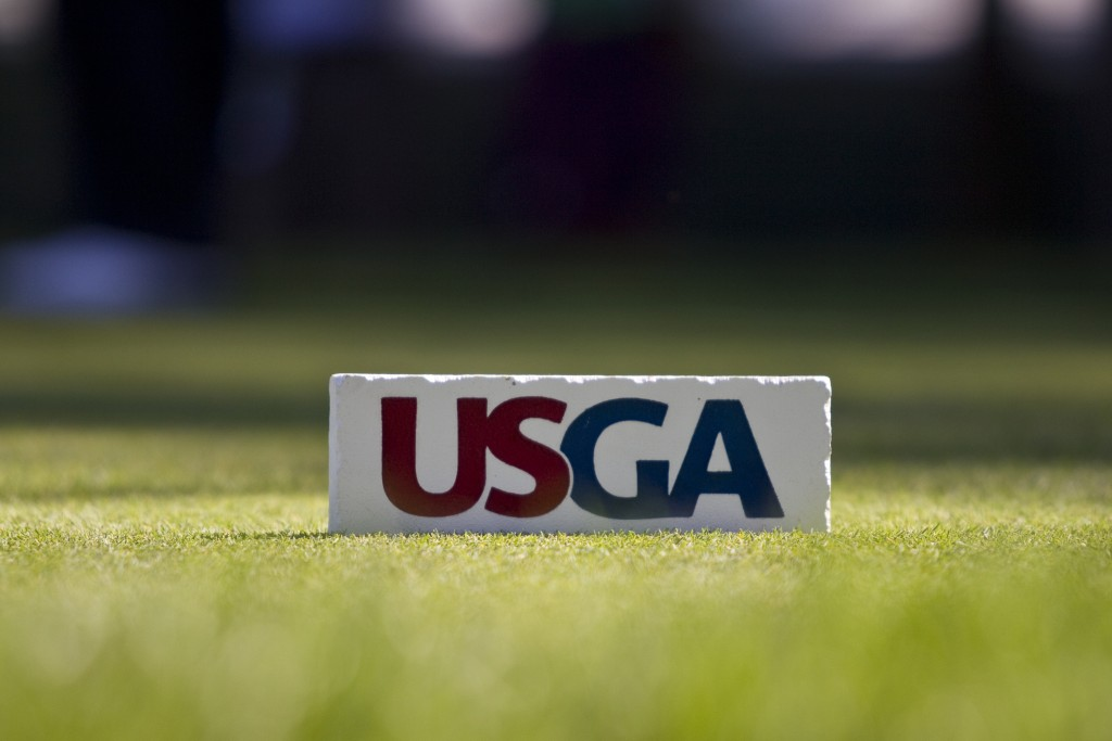 A tee marker as seen during the practice round at the 2011 U.S. Open at Congressional Country Club in Bethesda, Md. on Wednesday, June 15, 2011.  (Copyright USGA/Russell Kirk)