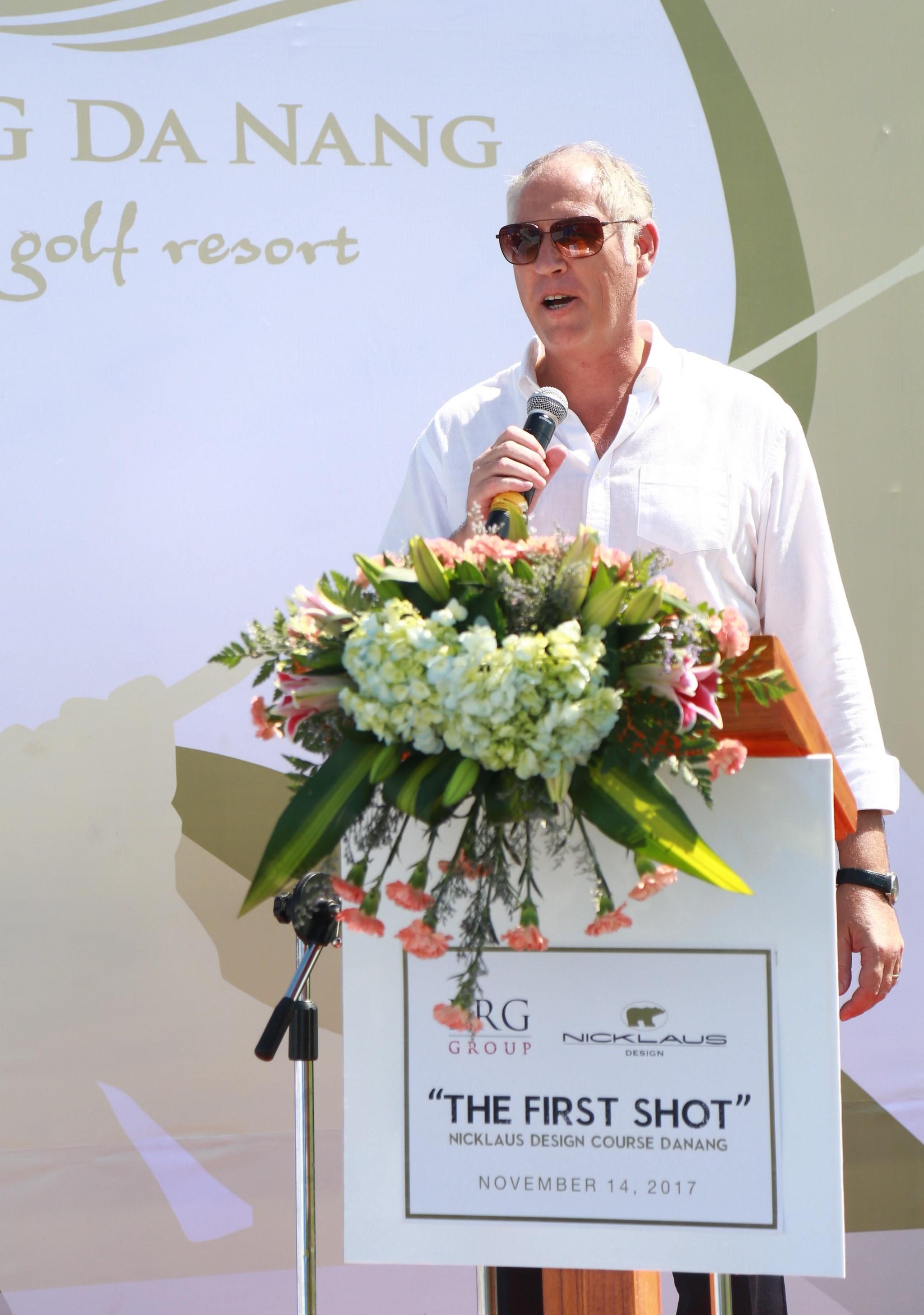 Ông Mark Reeves - Giám đốc khối Kinh doanh Golf Tập đoàn BRG