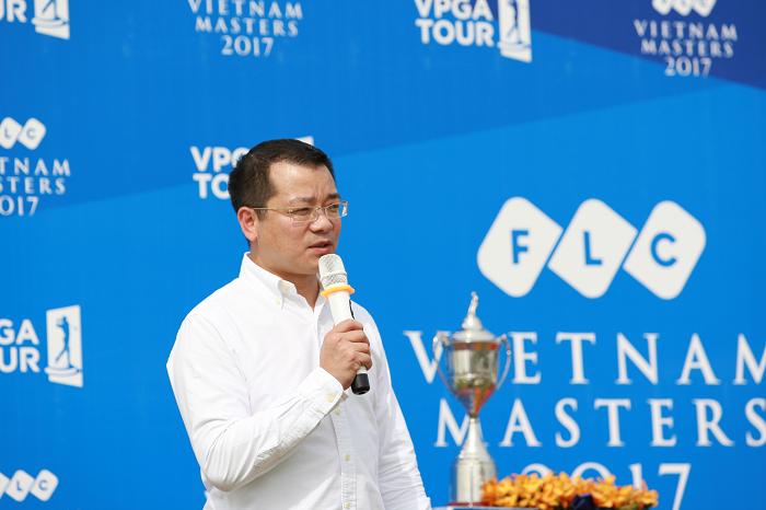 Ông Nguyễn Quang Huy - Tổng Giám đốc Tập đoàn FLC, tập đoàn đầu tiên của Việt Nam đồng hành cùng một giải golf Chuyên nghiệp.