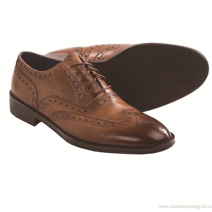 Men-Peter-Millar-Burnished-Wingtip-Shoes-Oxfords-Cognac