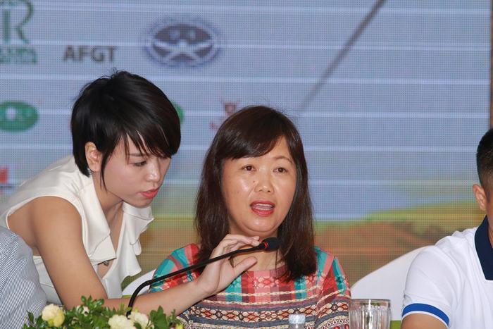 Bà Vũ Vân Yến - Phó tổng biên tập Tạp chí golf Việt Nam