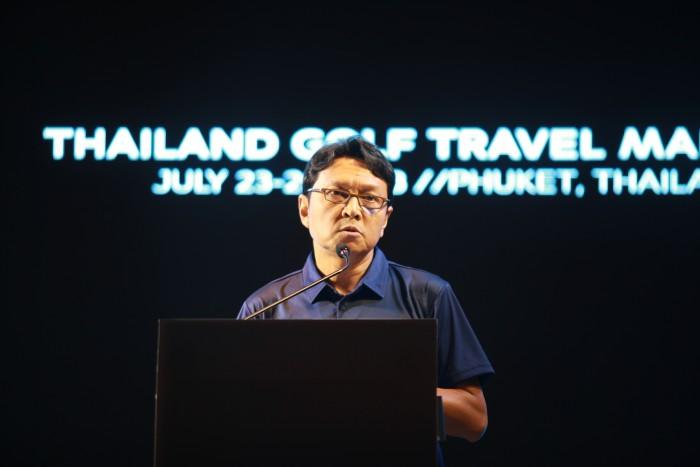 ông Tanes Petsuwan - Phó cục trưởng Tổng cục du lịch Thái Lan phát biểu tại sự kiện ra mắt
