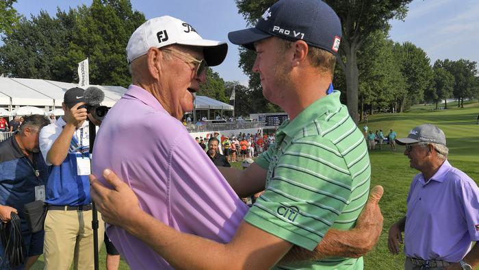Justin Thomas và ông nội
