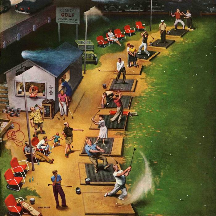 Marmont-Hill-Golf-Driving-Range-by-John-Falter-Painting-Print-on-Canvas-dbde695b-8b5f-4943-9de9-1ff5224c6a82