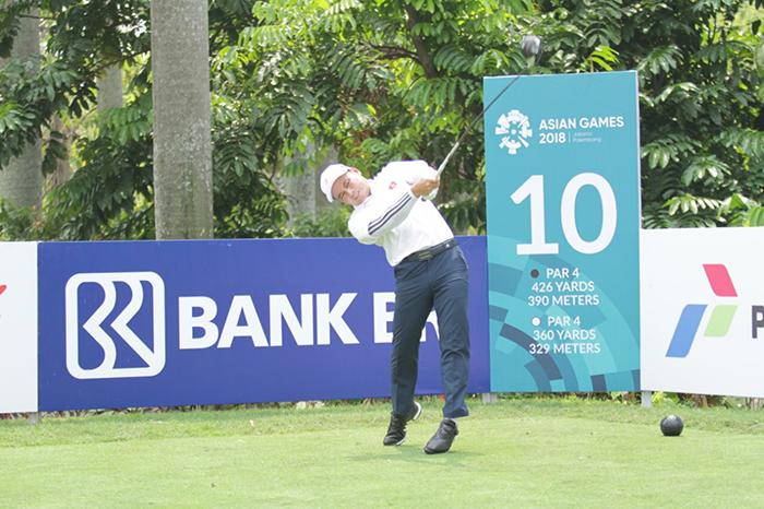 VĐV Thái Trung Hiếu lần đầu tiên được làm thành viên của tuyển golf Việt Nam, anh đang rất tự tin và mong chờ đến ngày thi đấu.