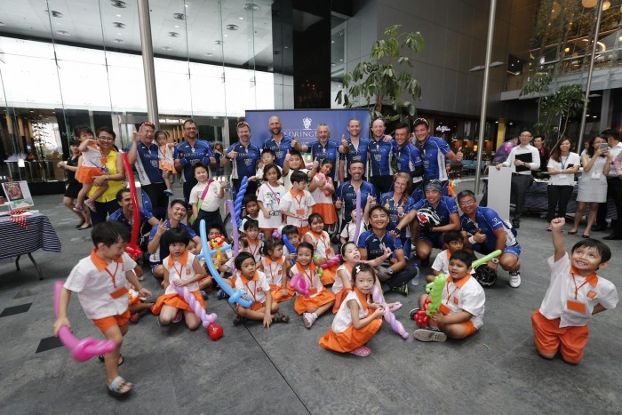 Reimann and his team were able to raise almost S$120.000 (US$87.000) for Child at Street 11 - an organization that supports poor kids and those with disorders.