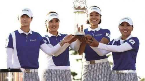 Hàn Quốc vô địch giải golf đồng đội danh giá UL International Crown 2018
