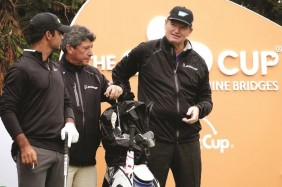 Ernie Els and Shubhankar Sharma