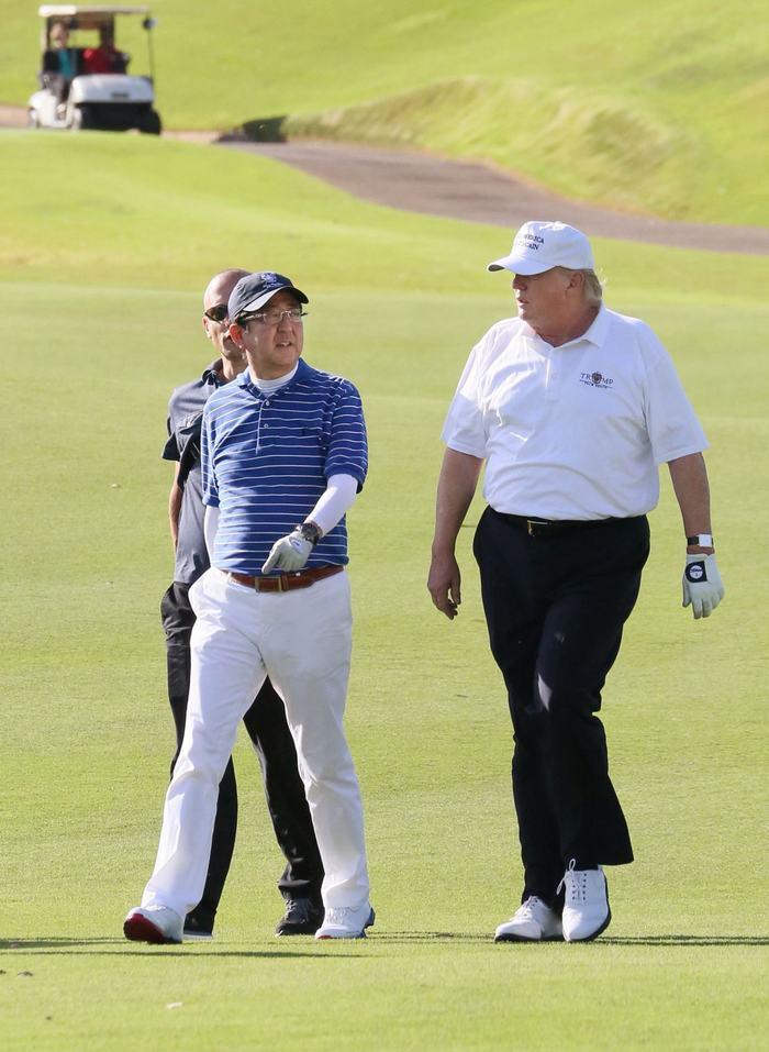 Donald Trump và Shinzo Abe