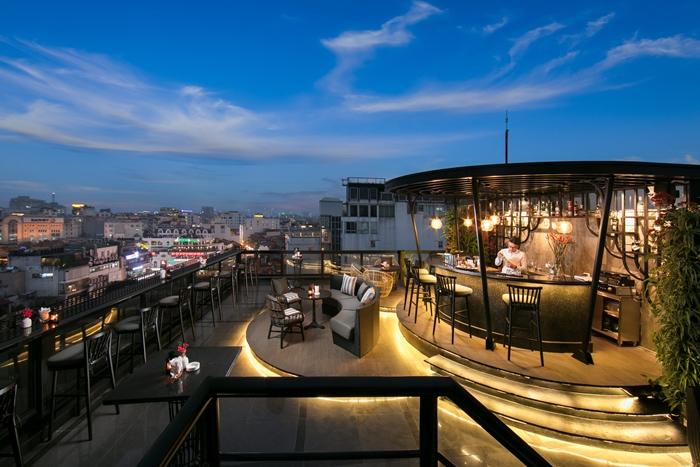 Khung cảnh thành phố với tầm ngắm từ O'Sky Bar