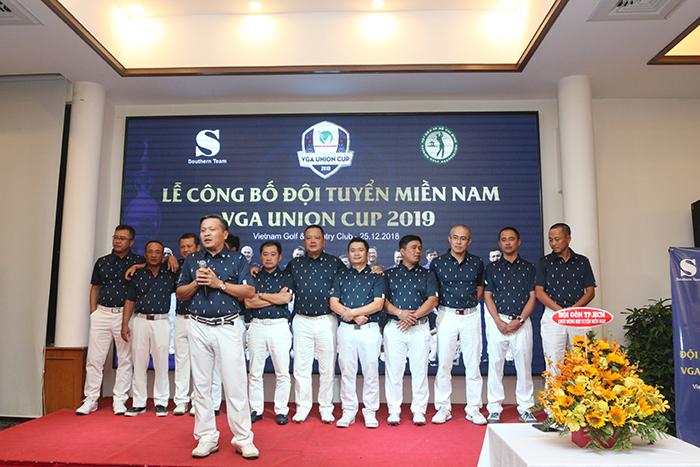 Ông Trần Thanh Tú - Đội trưởng tuyển Union Cup miền Nam 2019 tại lễ công bố danh sách đội tuyển. Ảnh: Trung Chiến