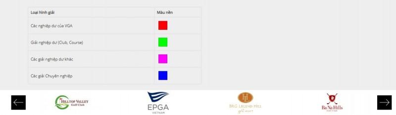 Logo thuộc các đối tác của VGM sẽ được cập nhật dưới chân trang giúp bạn dễ dàng truy cập vào website đối tác để tìm hiểu các thông tin chi tiết khác liên quan về golf.