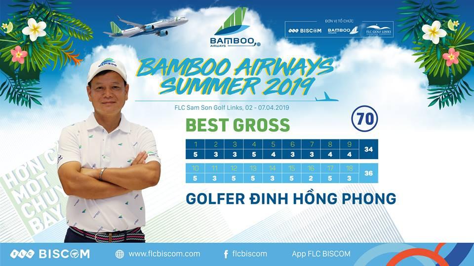 Golfer Đinh Hồng Phong vô địch giải đấu với Gross 70
