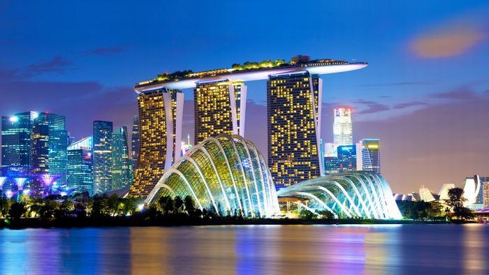 Khu phức hợp Marina Bay Sands nổi tiếng là địa điểm tổ chức giải thưởng W50BR 2019.