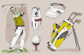 vintage-golf-player-essensials-hand-drawn-vector-illustration